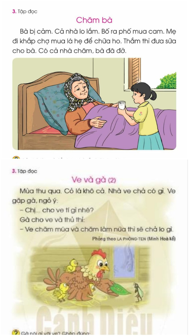 Bổ sung điều chỉnh ngữ liệu sách giáo khoa Tiếng Việt 1 bộ Cánh Diều