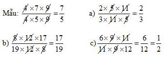 Vở bài tập Toán 4 Bài  102 trang 16 Luyện tập Rút gọn phân số