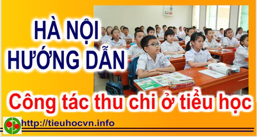 Công văn 3213 Hướng dẫn công tác thu chi ở các trường Tiểu học năm học 2019 - 2010 của SGD Hà Nội