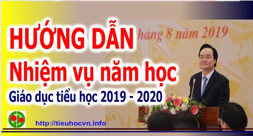 Hướng dẫn thực hiện nhiệm vụ Giáo dục Tiểu học Năm học 2019 - 2020 Bộ GD&ĐT